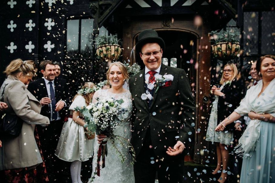 Alison & David's Real Life Wedding at Samlesbury Hall